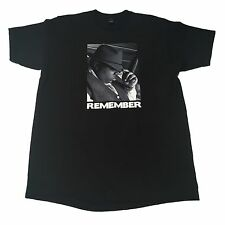 (L) Remember NOTORIOUS BIG Biggie Smallz Black Bad Boy Shirt 20 Years Puff Daddy