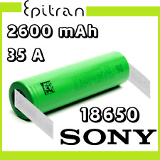 Batteria ricaricabile a litio li-ion 3.6V 3.7V 18650 2600mah Sony VTC5 a saldare
