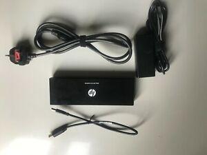 HP 3005PR USB 3.0 Docking Station Port Replicator w/ HDMI & Display Port w/ PSU