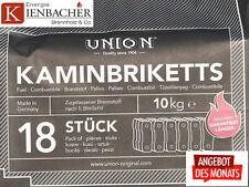 """20 kg UNION Braunkohlebriketts """"ToGo"""" im 10kg Bag *TOP* Gluthalter Kohlebrikett"""