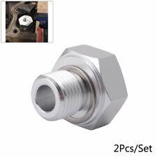 2Pc Oil Pressure Adapter Fitting LS Swap Gauge Sensor Adapter M16x1.5 to 1/8 NPT