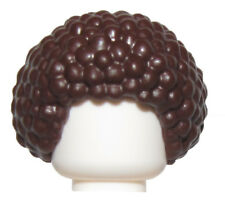 LEGO NEW DARK BROWN MIINIFIGURE AFRO BUBBLE HAIR WIG PIECE MALE BOY TOWN CITY