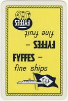 Playing Cards 1 Single Card Old FYFFES E&F Shipping Line Advertising FRUIT Ships