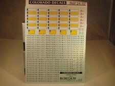DECALS 1/24  PLAQUES IMMATRICULATIONS FRANCE à composer - COLORADO  2492
