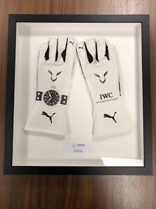 Mercedes Benz AMG F1 Lewis Hamilton Race-Spec Framed 2018 Replica White Gloves