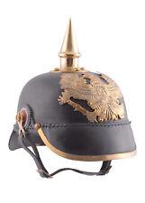 Prussian Pickelhaube Infantory 1889 Leather and Brass Helmet LARP Reenactment
