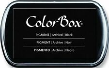 Color Box Pigment Ink Stamp Pad BLACK 15082 Sealed! Brand New!