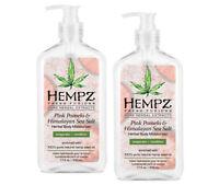 LOT 2 Hempz PINK POMELO and HIMALAYAN SEA SALT Herbal Body Moisturizer 17 oz