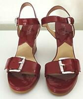 Michael Kors Women's Size 7.5 M  Red Cork Wedge Open Toe Pacific Sandals