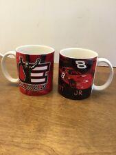 Pair Of Mugs Dale Earnhardt And Junior Nascar Car 8 New