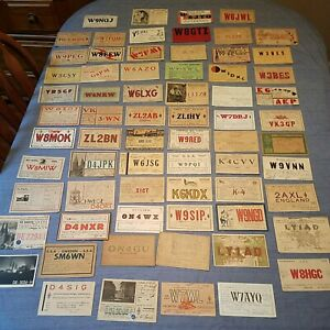 1930s  QSL Ham Radio Post Cards / Calling Cards  LOT OF 68