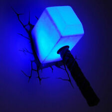3D Light Marvel Thor Hammer Night Light The Avengers Wall Art Deco Lamp Decor