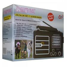 Omega 4065 10 Band Portable Battery Or Mains Powered Sports Speaker Radio Black
