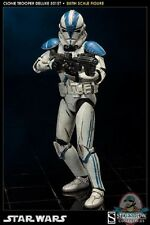 1/6 Sixth Scale Star Wars Clone Trooper Deluxe 501st Sideshow Collectibles