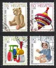 Switzerland - 1986 Pro Patria: Antique toys Mi. 1331-34 FU