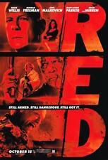 RED SIGNED 11x17 Poster Director Robert Schwentke COA