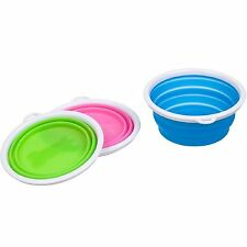 Bamboo Pet Collapsible Silicone Travel Bowl 3 Cup Random Colors