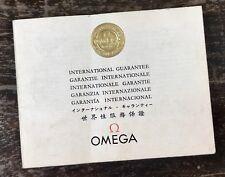 OMEGA Guarantee Certificate Booklet Speedmaster 321 1967 Straight Lug CK2998 OEM