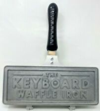 The Keyboard Waffle Iron in Die-Cast Aluminum