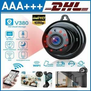Mini WIFI Kamera IP 1080P HD Kabellos WLAN Webcam Überwachungskamera Nachtsicht