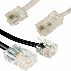 RJ11 to RJ45 Modem Telephone Cable 8P4C - 6P4C Router to ASDL Hub Patch Lead Lot