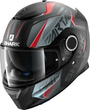 SHARK Spartan Karken Mat Black Red Anthracite Motorrad Integral Helm