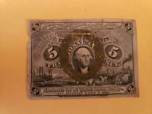 5 Cent 1863 United States of America Fractional Currency (2nd) Issue