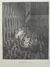 Gustave Dore London A Pilgrimage Westminster Abby Choir Engraving 1872