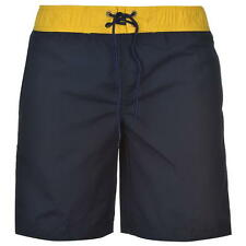 BNWT MENS NAVY/YELLOW LEE COOPER BOARD SHORTS 3 POCKETS SIZE SMALL