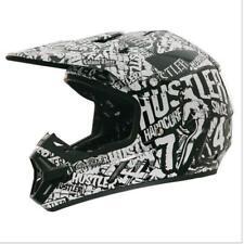 Rockhard Hustler Volume 3 Offroad MX ATV Dirt Helmet Black White XSmall XS