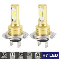 2pcs 12V-24V phares 6000K ampoules 8000LM 3570 H7 LED perles lampe ME