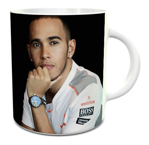 Lewis Hamilton mug ceramic mug with quote from Lewis and championship dates