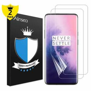 OnePlus 7 Pro Screen Protector Bubble Free Case Friendly Wet Applied Film 2 Pack