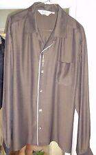 DaVinci 50's Bronze Iridescent Gold/Silver Crest Camp Collar Rockabilly Usa Lxl