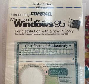 Microsoft Windows 95 OEM Program Product ID & Certificate SEALED Compaq PC