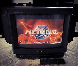 Sony Trinitron KV-1670MT Gaming Retro Arcade CRT TV Monitor **RARE**