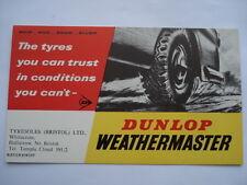 C1950s weathermaster DUNLOP il pneumatico potete fidarvi (Tyresoles Bristol) ADV Blotter