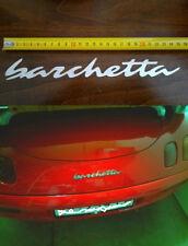 Fregio logo scritta GRANDE in acciaio fiat  BARCHETTA