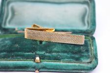 Vintage yellow metal tie clip in the art deco style #T494