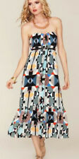 $425 Anthropologie Twelfth Street Cynthia Vincent Geometric Maxi Dress Small S 6