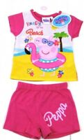 NEW Girls Peppa Pig 'Ready for the Beach!' Short Set 2,3,4,5,6, Years