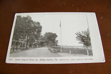 Rare Vintage Antique Postcard A1 South View of River Wilkes-Barre Pennsylvania