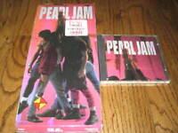 Pearl Jam Ten  longbox and Original cd! Rare!