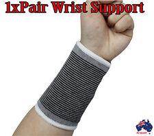 1pair Elastic Sports Wristband Protector Wrist Brace Wrap Support Gym Tennis