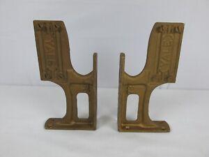 Vintage Yale Door Closer Brackets Cast Iron Yale 73 Industrial Pair EXCELLENT