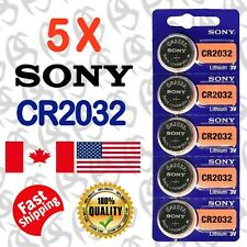 5 pecs SONY CR2032, BR2032, DL2032, 3V cell Lithium Watch Battery. Exp. 2028