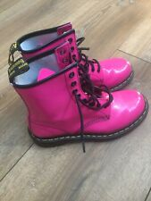 Ladies/older Girls Dr Martens pink patent leather boots size Uk 5