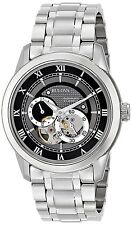 Bulova 96A119 BVA Series Automatic Semi-Skeleton Dial Grey-Dial Watch