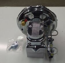 "CAMARO AND  CHEVELLE GTO  11"" CHROME BRAKE BOOSTER AND MASTER CYLINDER NEW PV4C"