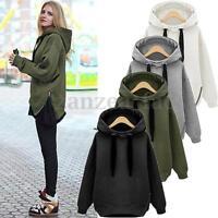 New Women Long Sleeve Cardigan Loose Sweater Outwear Jacket Hoodie Coat Fleeces